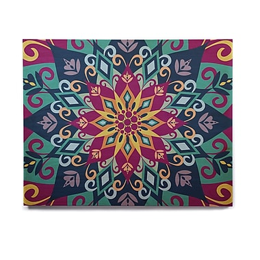 East Urban Home 'Blooming Mandala' Graphic Art Print on Wood; 8'' H x 10'' W x 1'' D
