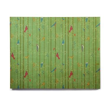 East Urban Home 'Hello Birdies' Graphic Art Print on Wood; 11'' H x 14'' W x 1'' D