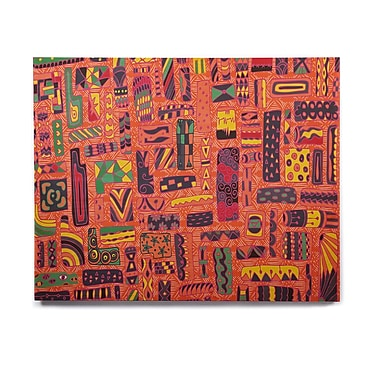 East Urban Home 'Squares' Graphic Art Print on Wood