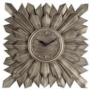 Brayden Studio Square Gray Wall Clock