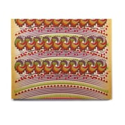 East Urban Home Digital 'Colorful Traditional Pattern' Graphic Art Print on Wood
