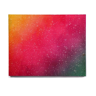 East Urban Home Glam 'Colorful Constellation' Graphic Art Print on Wood; 20'' H x 24'' W x 1'' D