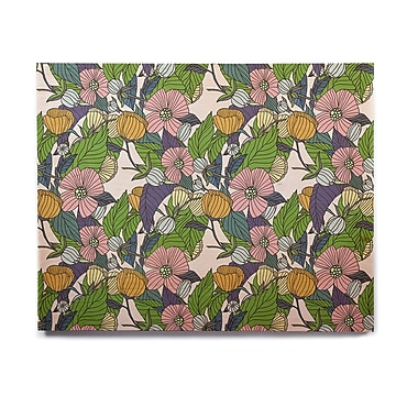 East Urban Home Floral Pastels 'Spring Foliage' Graphic Art Print on Wood; 8'' H x 10'' W x 1'' D
