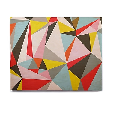 East Urban Home Geometric 'Mosaik' Graphic Art Print on Wood; 8'' H x 10'' W x 1'' D