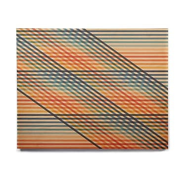 East Urban Home Lines 'OvrlapToo' Graphic Art Print on Wood; 20'' H x 24'' W x 1'' D