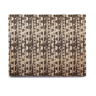 East Urban Home 'Black Cream Abstract' Graphic Art Print on Wood