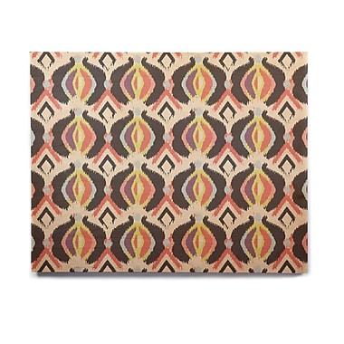 East Urban Home 'Bohemian iKat' Graphic Art Print on Wood; 20'' H x 24'' W x 1'' D