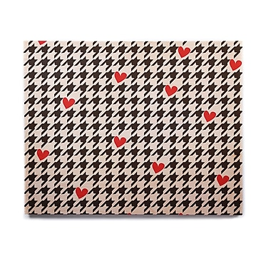 East Urban Home 'Spacey Houndstooth Heart' Graphic Art Print on Wood