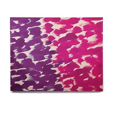 East Urban Home 'Fleeting Purple' Graphic Art Print on Wood; 20'' H x 24'' W x 1'' D