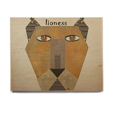 East Urban Home 'Lioness' Graphic Art Print on Wood