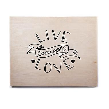 East Urban Home 'LLL' Textual Art on Wood; 11'' H x 14'' W x 1'' D