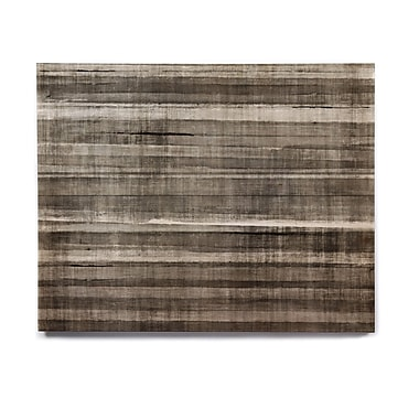 East Urban Home 'Grey Accent' Graphic Art Print on Wood; 8'' H x 10'' W x 1'' D