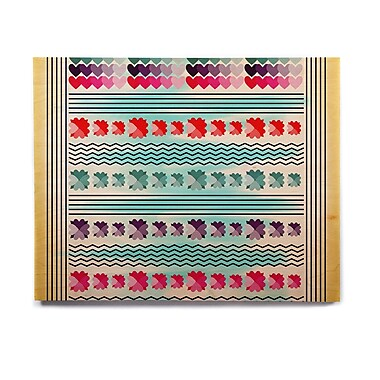 East Urban Home 'Love Pattern' Graphic Art Print on Wood; 20'' H x 24'' W x 1'' D