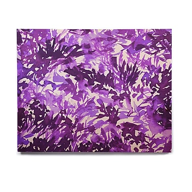 East Urban Home 'In The Meadow 4-Purple Multi ' Graphic Art Print on Wood