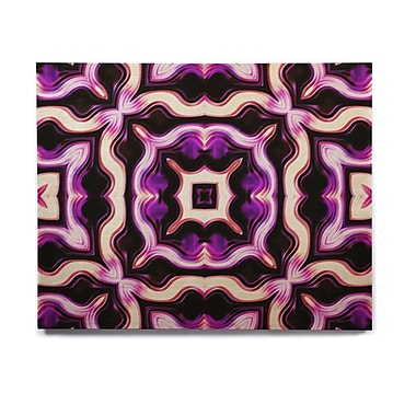 East Urban Home Floral 'Vintage Flower Pattern 2' Graphic Art Print on Wood; 8'' H x 10'' W x 1'' D