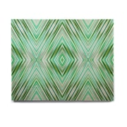East Urban Home Geometric 'Green Mint Modern Ethnic ' Graphic Art Print on Wood