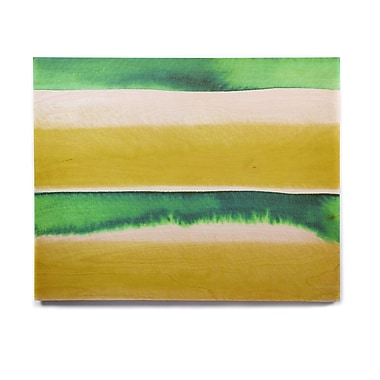 East Urban Home 'Summer Vibes 3, Yellow Green' Graphic Art Print on Wood; 11'' H x 14'' W x 1'' D