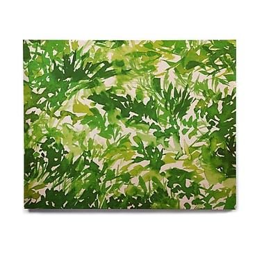 East Urban Home Abstract 'In The Meadow 1 - Green White ' Graphic Art Print on Wood