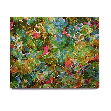 East Urban Home 'Bloom On! Tropical ' Graphic Art Print on Wood; 16'' H x 20'' W x 1'' D
