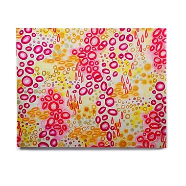 East Urban Home 'Circular Persuasion Pink Yellow' Graphic Art Print on Wood; 16'' H x 20'' W x 1'' D
