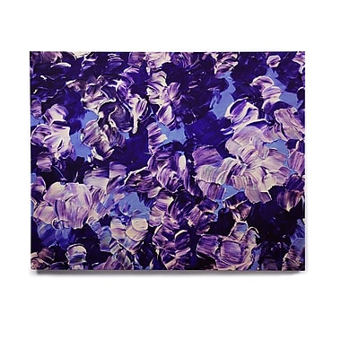 East Urban Home 'Floral Fantasy' Graphic Art Print on Wood; 8'' H x 10'' W x 1'' D
