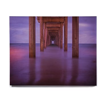 East Urban Home 'Scripps Pier' Photographic Print on Wood; 11'' H x 14'' W x 1'' D
