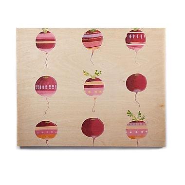 East Urban Home Ped 'Happy Radishes ' Graphic Art Print on Wood