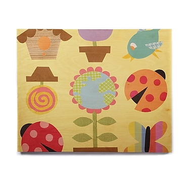 East Urban Home 'Spring Repeat' Graphic Art Print on Wood; 20'' H x 24'' W x 1'' D