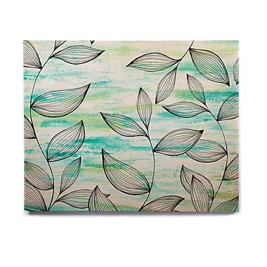 East Urban Home Nature 'Tropical Leaf Garden' Graphic Art Print on Wood; 16'' H x 20'' W x 1'' D