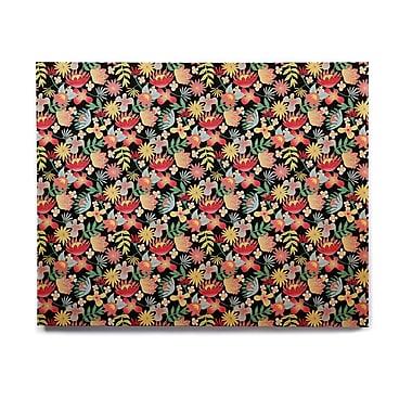 East Urban Home 'Flower Power' Graphic Art Print on Wood; 8'' H x 10'' W x 1'' D