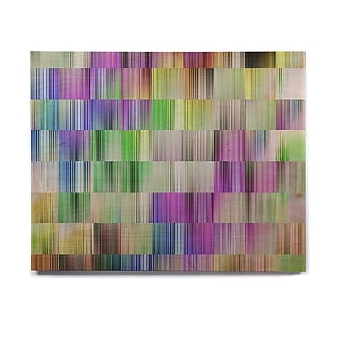 East Urban Home 'Sweet Pastel Lines 3' Graphic Art Print on Wood; 16'' H x 20'' W x 1'' D