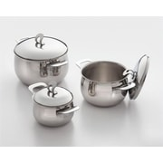 Cook Pro Stainless Stock Pot w/ Lid; 4 Qt.