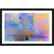 Latitude Run 'Blue Powers of Augury' Framed Watercolor Painting Print on Paper; Black