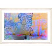 Latitude Run 'Blue Powers of Augury' Framed Watercolor Painting Print on Paper; White