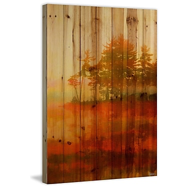 Loon Peak 'Kamloops' Painting Print on Natural Pine Wood; 45'' H x 30'' W x 1.5'' D