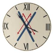 Loon Peak Oversized 39'' White Wall Clock