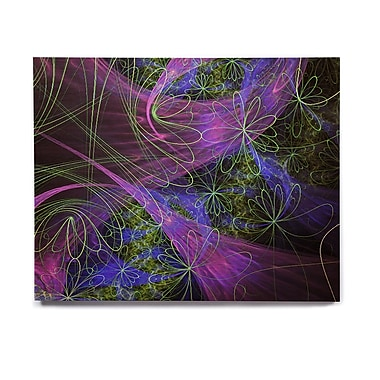 East Urban Home 'Floral Garden' Graphic Art Print on Wood; 16'' H x 20'' W x 1'' D