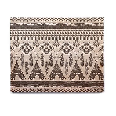 East Urban Home 'Native Roots' Graphic Art Print on Wood; 8'' H x 10'' W x 1'' D