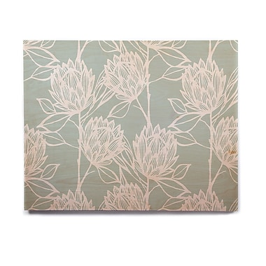 East Urban Home Flowers 'Protea Jade White' Graphic Art Print on Wood