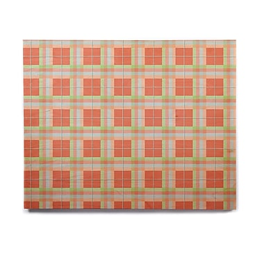 East Urban Home 'Summer Plaid Pattern' Graphic Art Print on Wood; 16'' H x 20'' W x 1'' D