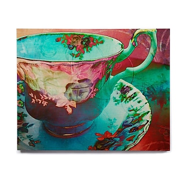 East Urban Home 'Mad Hatters T-Party VI' Graphic Art Print on Wood