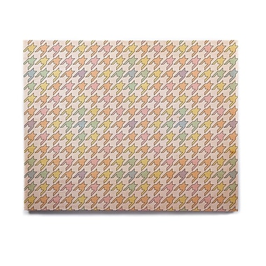 East Urban Home 'Pastel Houndstooth' Graphic Art Print on Wood