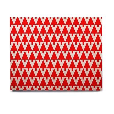 East Urban Home Geometric Illustration 'Happy X-Mas Red' Graphic Art Print on Wood