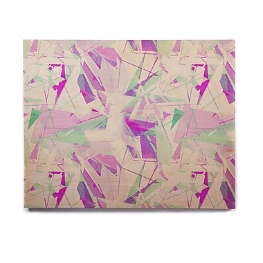 East Urban Home 'Shatter Purple' Graphic Art Print on Wood; 8'' H x 10'' W x 1'' D