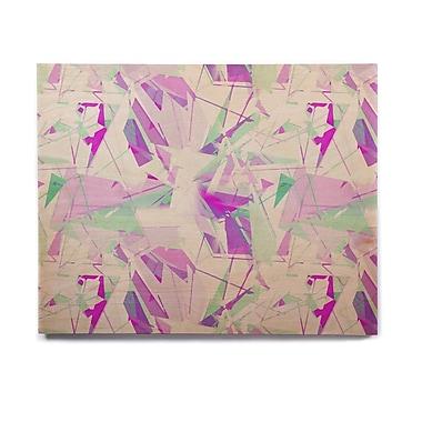 East Urban Home 'Shatter Purple' Graphic Art Print on Wood