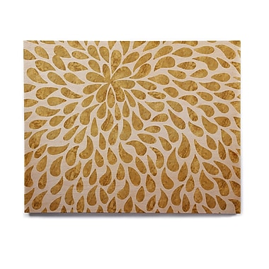 East Urban Home 'Abstract Golden Flower' Graphic Art Print on Wood