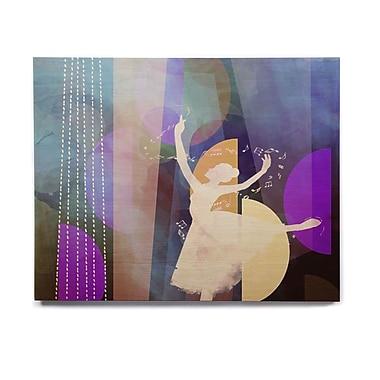East Urban Home 'Blue Ballet' Graphic Art Print on Wood; 11'' H x 14'' W x 1'' D