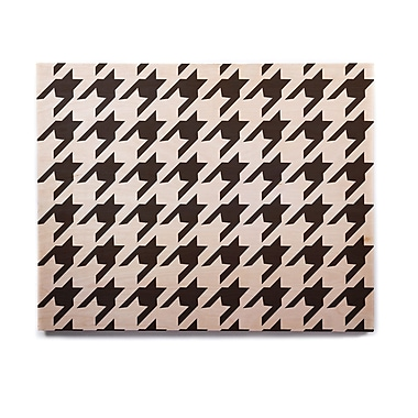 East Urban Home 'Spacey Houndstooth' Graphic Art Print on Wood; 11'' H x 14'' W x 1'' D