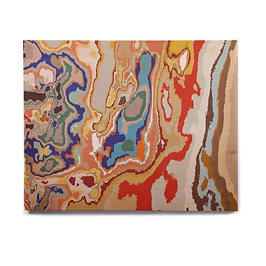East Urban Home Digital 'Colored Sand' Graphic Art Print on Wood; 11'' H x 14'' W x 1'' D