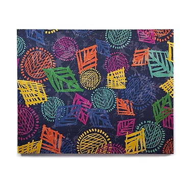 East Urban Home 'African Beat Blue' Graphic Art Print on Wood